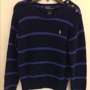 Ralph Lauren Polo Stripe Shoulder Button Sweater 5
